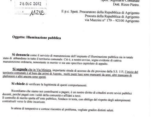 COMITATO SCAVUZZO. ILLUMINAZIONE PUBBLICA.