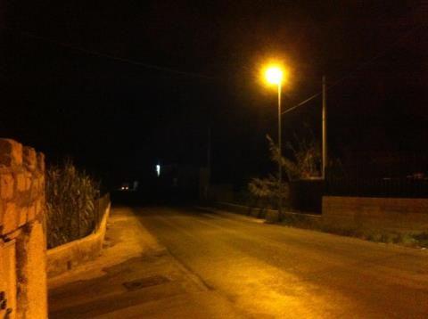 Illuminazione pubblica. Realmonte strada della miniera