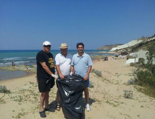 Realmonte. Insieme per Pulire Le nostre spiagge. La provincia regionale di Agrigento da forfait.