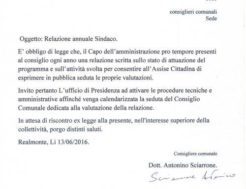 Realmonte: In attesa della Relazione Programmatica Annuale del Sindaco.