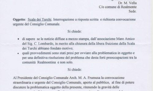 """Realmonte: Scala dei Turchi a Mareamico! Il consigliere comunale Sciarrone Interroga il Sindaco e chiede la convocazione di un Consiglio Comunale """"Straordinario e Urgente"""""""